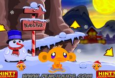 Счастливая обезьянка на Северном полюсе