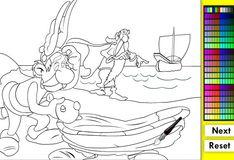 Игра Астерикс на берегу