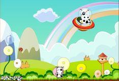 Игра Игра Супер корова уворачивается от бомб