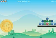 Игра Игра Супер корова: Стрельба по бочкам
