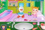 Играть бесплатно в Малышка Хейзел принимает ванну
