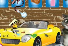 Игра Кот Том моет машину