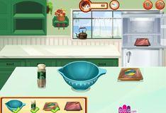 Игра Игра Пицца и гамбургеры кухни Сары