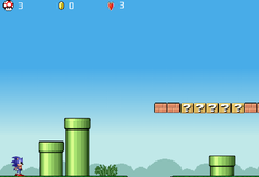 Игра Приключения Соника в мире Марио