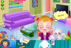 Малышка Хейзел помогает устраивать чайную вечеринку