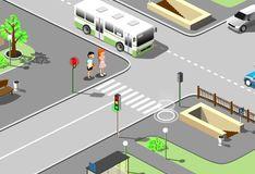 Игра Игра Учим дорожные правила вместе!