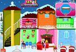 Игра Новогодний кукольный домик Барби