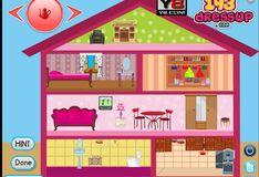 Игра Игра Барби: Украшение кукольного домика