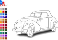 Игра Раскраска раритетного авто