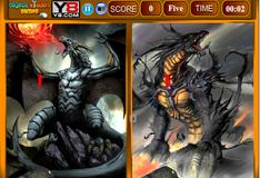 Игра Сходства на картинках с драконами