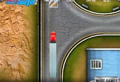 Игра Доставка на красном грузовике