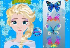 Игра Игра Рисунок на лице Эльзы