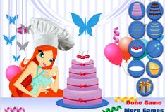 Игра Винкс клуб: Украшение торта