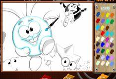 Игра Игра на двоих: Игра Смешарики: онлайн-раскраска