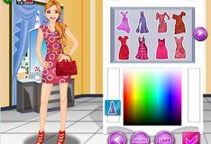 Игра Барби: Цветная мода