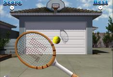 Игра в теннис с гаражной дверью