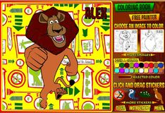 Игра Игра Раскрась Мадагаскар