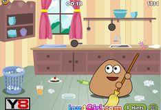 Игра Поу: уборка комнаты