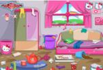 играйте в Уборка в комнате с Хелло Китти