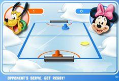 Игра Аэрохоккей с Микки и его друзьями