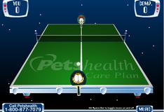 Гарфилд играет в настольный теннис