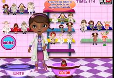 Игра Доктор Плюшева стирает кукол