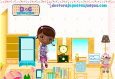 Игра Уборка в комнате Доктора Плюшевой