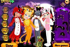 Игра Костюмы зверей: Хэллоуин