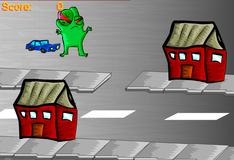 Игра Годзилле не нравятся синие машины