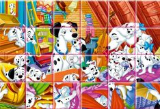 Игра Игра 101 далматинец: Детские пазлы