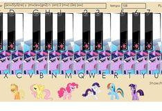 Игра Игра Дружба это Чудо: Пианино Пони