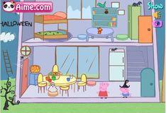 Игра Свинка Пеппа украшает дом на Хэллоуин