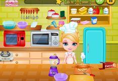 Игра Малышка Барби готовит сюрприз