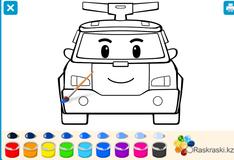 Игра Раскраска с Робокаром Поли