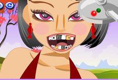 Игра Бодрая девушка у стоматолога