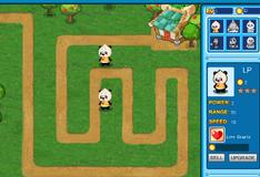Игра Панды защищают ферму