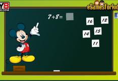 Игра Микки Маус учит математику