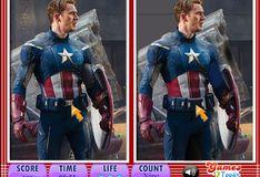 Игра Игра Капитан Америка: Найди отличия