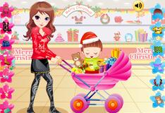 Мама с дочкой в магазине