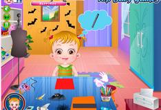 Малышка Хейзел делает поделки на Хэллоуин