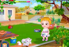 Игра Уход за щенком с малышкой Хейзел