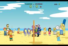 Игра Стмпсоны играют в волейбол