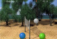 Игра в волейбол шариками