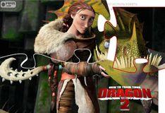 Игра Как приручить дракона 2: Мать Иккинга Валка - Пазл