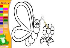 Игра Раскраска бабочка