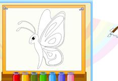 Игра Раскрась бабочку