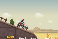 Спуск с горы на мотоцикле