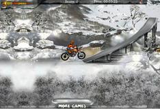 Игра Соревнования по мотокроссу зимой