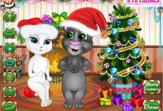 Игра Говорящий кот Том и Анжела: Украшение елки