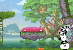 3 панды в фантазийном мире